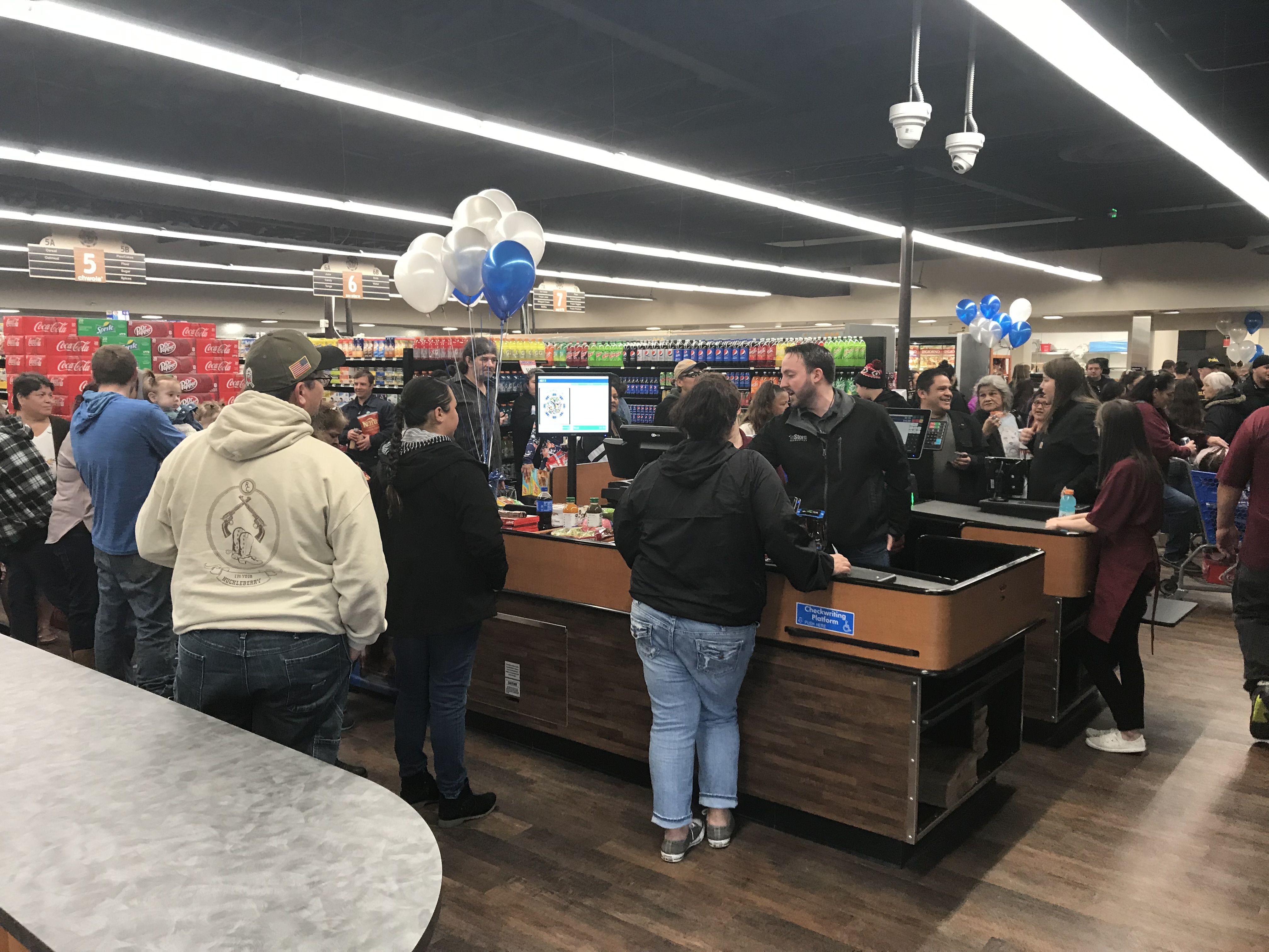 People shopping inside new Hoopa Grocery Store